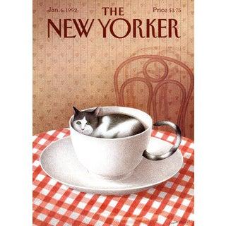 1992 New Yorker Cover, January 6 (Gurbuz Eksioglu), Cat For Sale