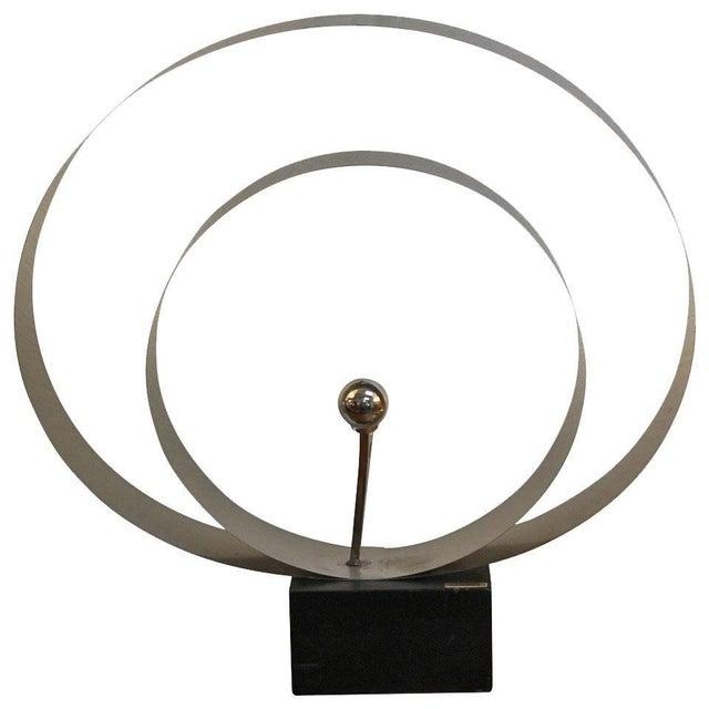 Black David Wolfe Steel Circular Sculpture For Sale - Image 8 of 8