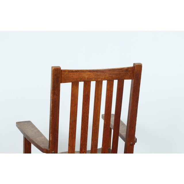 Stickley Oak Rocking Chair - Image 11 of 11