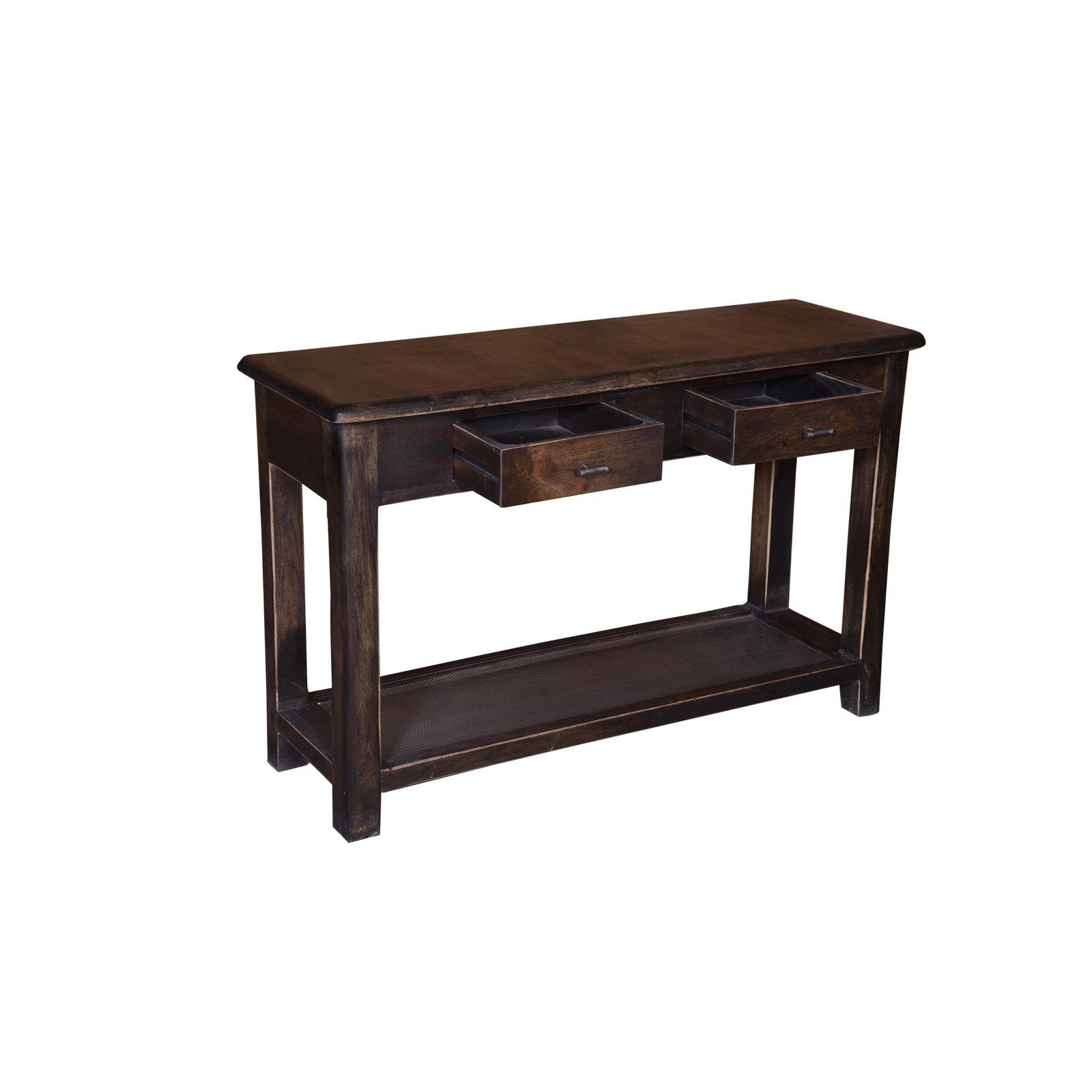 Gain Surface Space With Warm Rusting Styling When You Add This Console Table  To Your Living