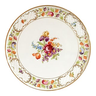 Dresden Flowers Cake Serving Platter