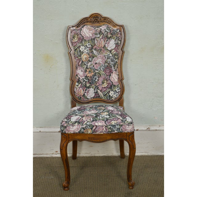Thomasville Vintage French Louis XV Style Set of 6 Dining Chairs For Sale - Image 10 of 12