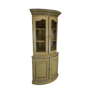 French Country Style Corner Cabinet For Sale