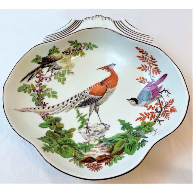 White Vintage Mottahedeh Chelsea Bird Shell Bowl For Sale - Image 8 of 10