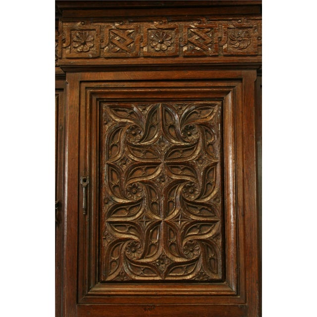 Heavily Carved Antique French Gothic Desk - Image 8 of 8