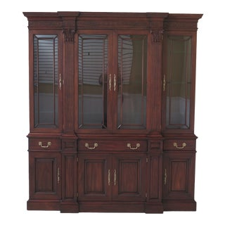 Henkel Harris #2374 Mahogany Chippendale Mahogany Breakfront For Sale