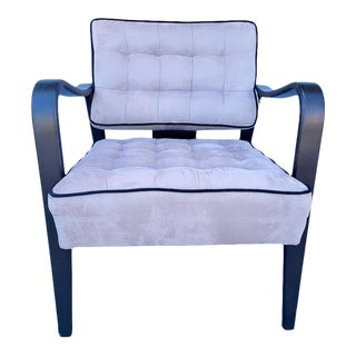 Mid Century Modern Tufted SIde Chair For Sale