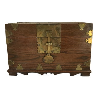 Chinese Box With Brass Fittings For Sale