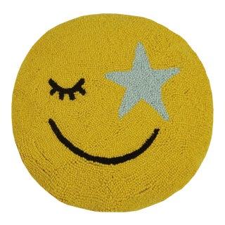 "All Smiles Hook Pillow, 16"" Diameter For Sale"