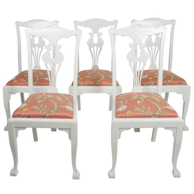 Chippendale Side Chairs - Set of 5 - Image 1 of 7