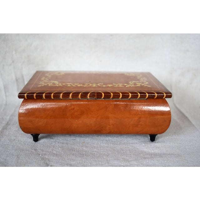 A vintage Italian marquetry storage box for your jewelry or trinkets. This is a pre-owned item so please see all pictures...
