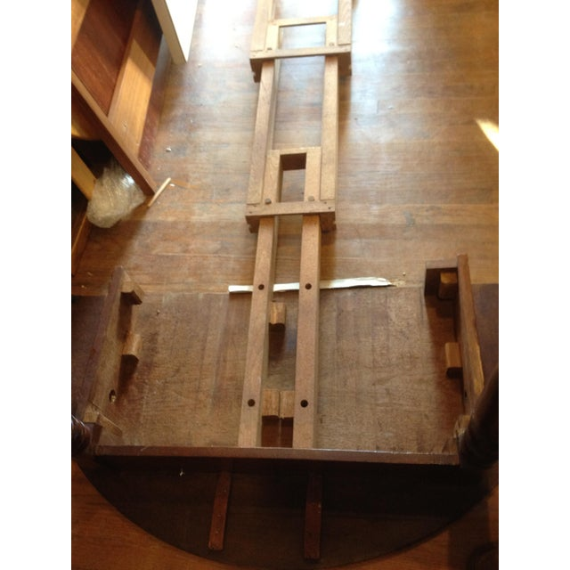 Antique 1860 Black Walnut Extendable Farm Dining Table For Sale In Washington DC - Image 6 of 12