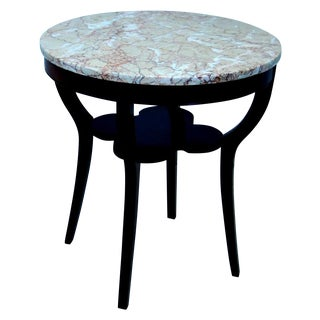 Round Marble Top Table For Sale