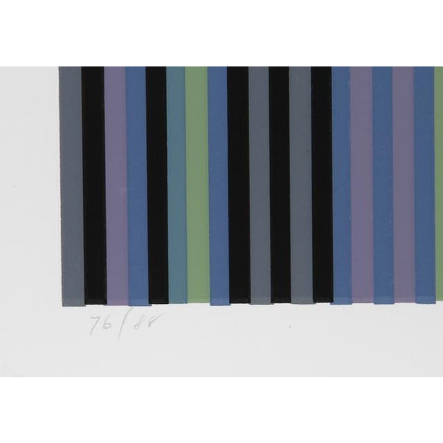 Contemporary Voodoo, Large Minimalist Silkscreen by Gene Davis For Sale - Image 3 of 4