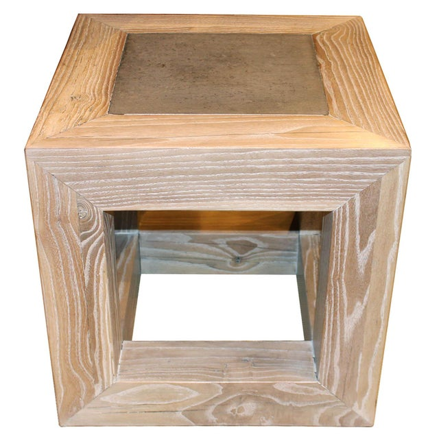 Stone Top Cube Table For Sale - Image 4 of 7