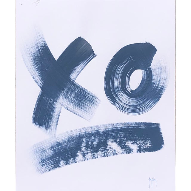 """xo"" Original Modern Painting by Tony Curry For Sale"