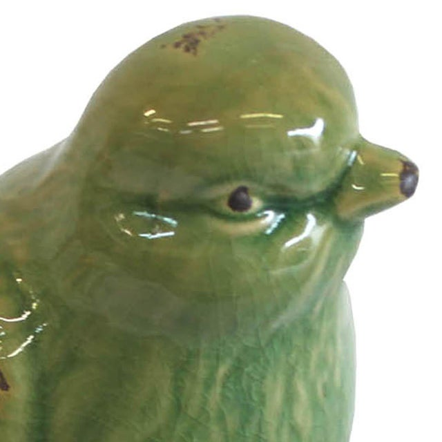 Green Bird on a Pine Cone Figurine - Image 4 of 4