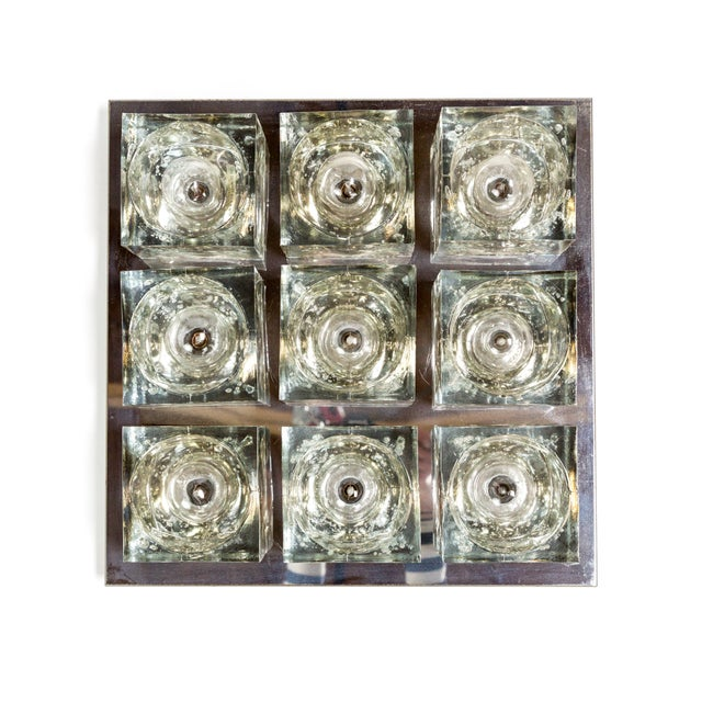 Lightolier Glass Blocks 9-Light Flush Mount For Sale - Image 13 of 13