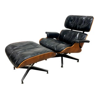 1950's Charles & Ray Eames Lounge Chair 670 With Ottoman for Herman Miller For Sale