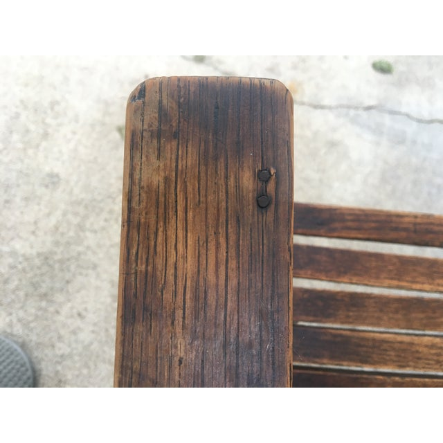 Wood Antique Stickley Style Mission Oak Child's Rocking Chair For Sale - Image 7 of 13