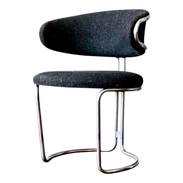 Vintage Barrel Back Modernist Chair For Sale