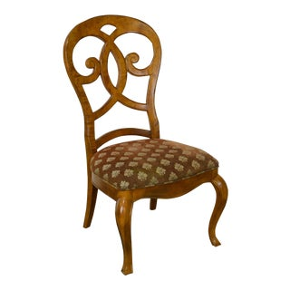 Biedermeier Style Burl Wood Side Chair by Thomasville