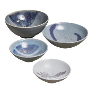 Rolf Palm Set of Four Ceramic Bowls, Mölle, Sweden, 1990s For Sale