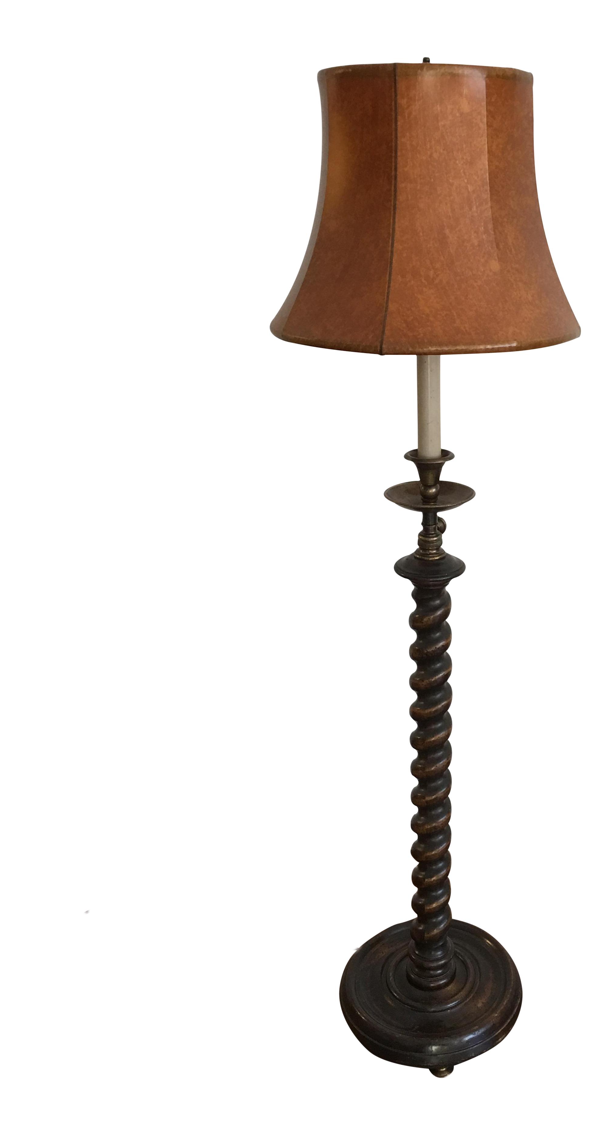 Adjustable Frederick Copper Barley Twist Table Floor Lamp Chairish