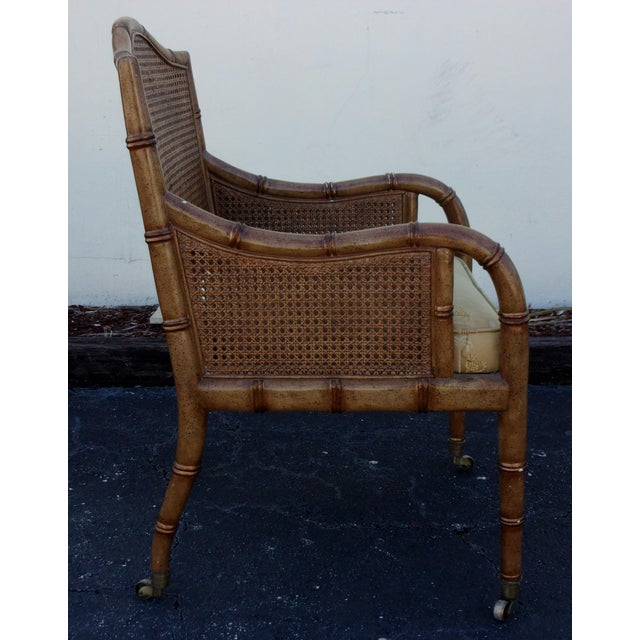 Vintage Faux Bamboo & Cane Chair For Sale - Image 4 of 4