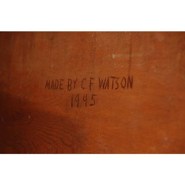 Vintage Parquetry Kneehole Desk - Image 7 of 7