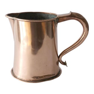 1771 George III Copper Handled Pitcher For Sale