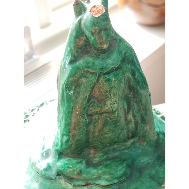 Mexican Green Lidded Pot For Sale - Image 9 of 11