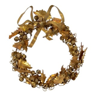 Vintage Dresden Oak Leaf With Acorns Wreath For Sale