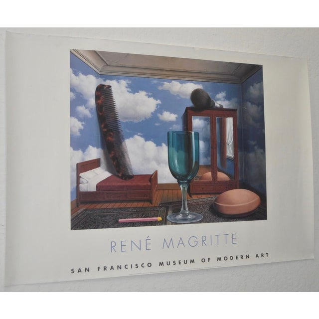 Rene Magritte Exhibition Poster San Francisco Museum of Modern Art c.2000 Surreal artwork by Magritte on this exhibition...
