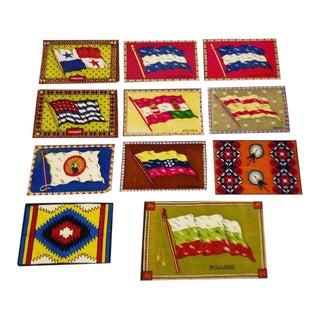 Vintage Flag 'Tobacco Silks' - Set of 11 For Sale