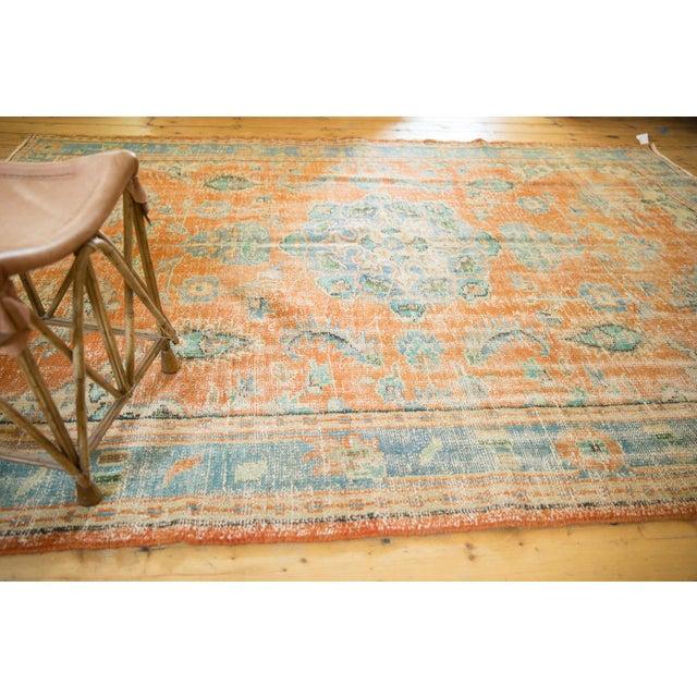 "Vintage Distressed Oushak Carpet - 6'4"" X 9'3"" For Sale - Image 10 of 13"