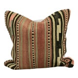 Image of Vintage Turkish Tribal Hand Woven Kilim Pillow Cover For Sale