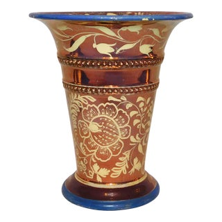 Antique Copper Lustre Vase For Sale