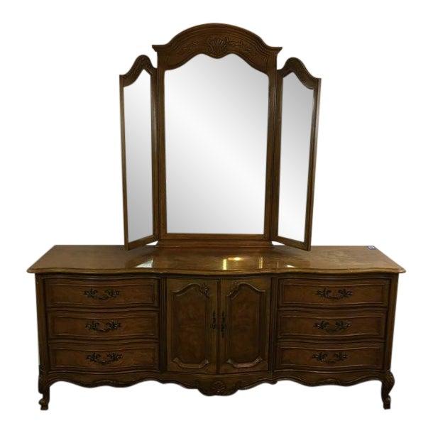 Vintage Thomasville Carved Wood French Provincial 'Court Triple' Dresser - Image 1 of 11