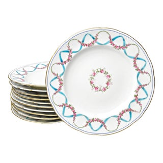 Late 19th Century English Luncheon Plates - Set of 12 For Sale