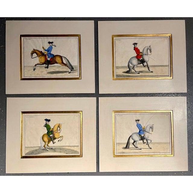Four Engravings of Horse Riders L' Aimable, Le Joli, Le Sanspareil, Le Poupon For Sale - Image 10 of 11
