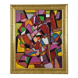 Juan Guzman Original Colorful Abstract Painting For Sale
