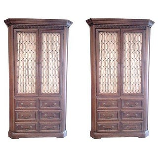 Conant Ball Tall Oak Armoires - Pair For Sale