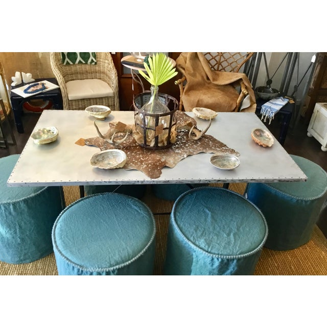 Linen Slipcovered Stools For Sale In Phoenix - Image 6 of 8