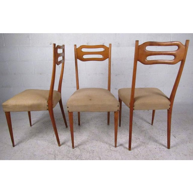 Mid-Century Modern Sculptural Italian Modern Dining Chairs - Set of 6 For Sale - Image 3 of 10