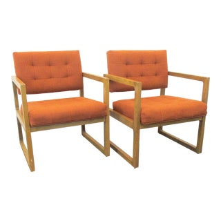 Mid-Century Modern Patrician Accent Chairs- A Pair For Sale