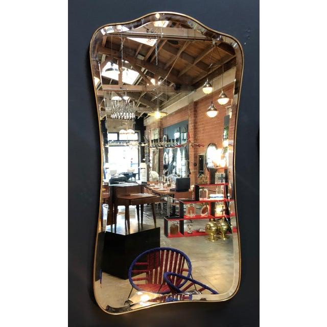 Italian Giant Midcentury Italian Molded Wall Mirror, 1950s For Sale - Image 3 of 8