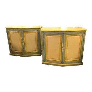 Baker French Country Swedish Painted Cabinets - A Pair