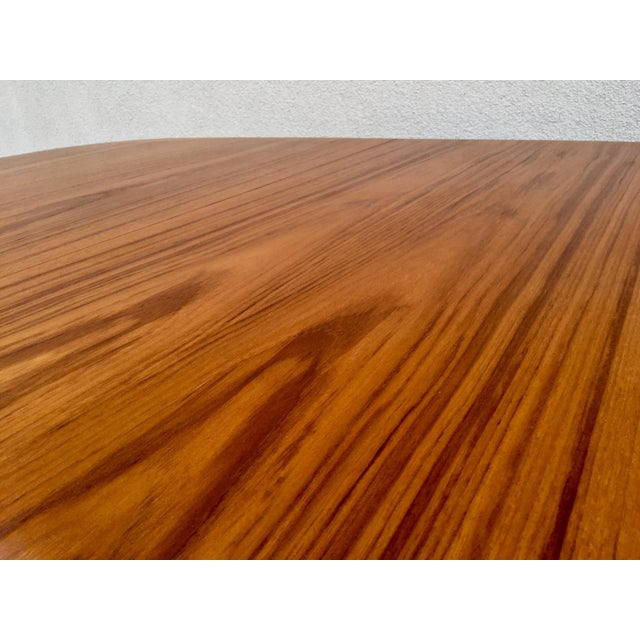 Mid-Century Expandable Teak Dining Table - Image 8 of 11