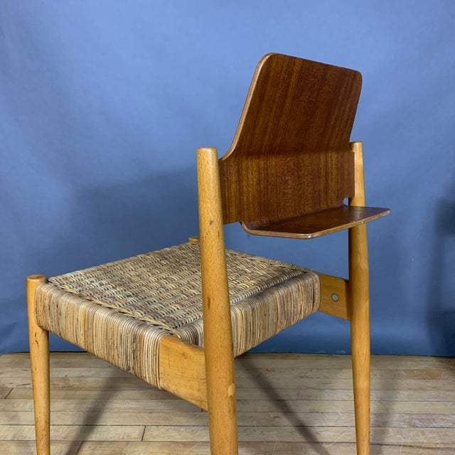 Wicker 1950s Egon Eiermann Church Chairs- Set of 4 For Sale - Image 7 of 13